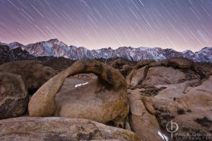Alabama Arch and Mt. Whitney / Nikon D3, 28mm, f/4, ISO800, 20 minutes