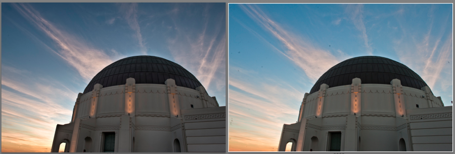 HDR on the Left, Single shot on the Right